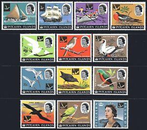 Pitcairn Islands 1967 Decimal Definitive Surcharges set of 13 MUH