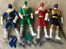 Mighty Morphin Power Rangers Zeo Action Figures Gold Blue Red Green & Weapons