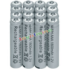 16x AAA battery batteries Bulk Nickel Hydride Rechargeable NI-MH 1800mAh 1.2V Gy