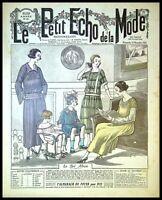 Le Petit Echo de la Mode année 1921, Ancien magazine Français N°46