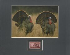 TOM TURKEYS - WILDLIFE CONSERVATION - FRAMEABLE POSTAGE STAMP ART - 0592