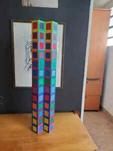 Victor Vasarely Sculpture MC 46 Tower