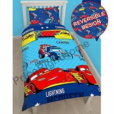 Disney Cars Piston Single Rotary Duvet Cover & Pillowcase Set Kids Bedding