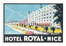 Hôtel Royal Nice Côte d'Azur luggage label Valise Autocollant x1942