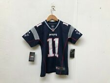 New England Patriots Nike Kid's Home Jersey - 8 Years - Edelman 11 - Navy -New