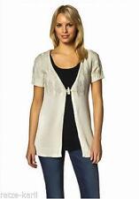 Kurzarm Damen-Pullover & -Strickware mit V-Ausschnitt in Größe 38
