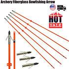 Archery Fiberglass Bowfishing Arrow Broadhead Safty Slide Bow Fishing Hunting US