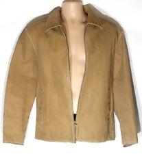 Men's Vintage CAMARO 12217 Distressed Brown Real Leather Jacket Size L