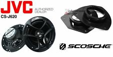 JVC CS-J620 6.5 Speakers + 1 Pair Front Speaker Adapters For GM