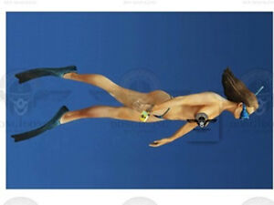 Resin Figures Model Garage Kit 1:35 Sexy female diver and fish NO151 Resin Kit