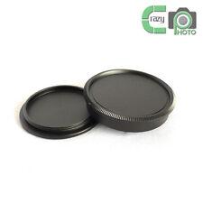 for Leica M39 LTM LSM Leica Screw Mount Black Metal Body Front & Rear Lens Cap