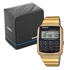 Casio Retro Calculator Watch - Gold
