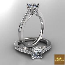 Set Ring Gia E Vvs1 0.80 Ct Princess Cut Trellis Diamond Engagement Prong Bezel