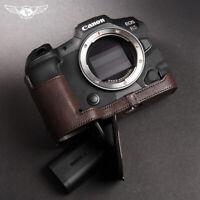 TP Handmade Canon EOS R5 R6 Half Case Camera Retro Genuine Leather Cover Insert