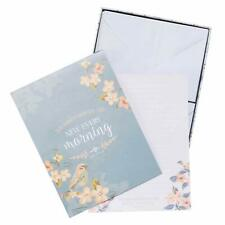 Christian Art Gifts Bird/Floral Writing Paper Stationary Set w/Scripture |New