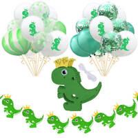 Dinosaur Confetti Latex Balloons Banner Wedding Birthday Jungle Party Decoration