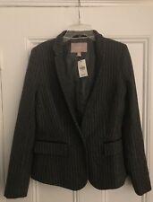 Authentic Banana Republic grey striped one button blazer size 4