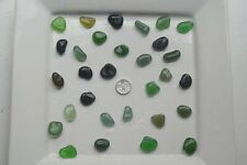 English Sea Glass from Cornwall  ...... 30 Large GREEN coloured pieces