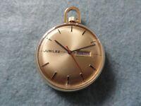 Made in France Jubilee Mechanical Wind Up Vintage Pocket Watch