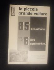 VINTAGE- PUBBLICITA' EDITORIALE AUTO FIAT 500 TOPOLINO - ANNI '40