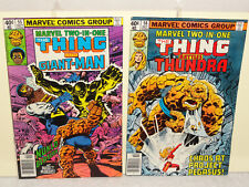 Bronze Age MARVEL TWO IN ONE 2 BOOK LOT 55 56 THE THING GIANT MAN THUNDRA FN
