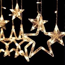 138 LED Star Curtain Window Fairy Lights Twinkle Christmas Party Wedding + RC