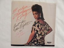 """EVELYN """"CHAMPAGNE"""" KING """"JUST FOR THE NIGHT"""" PICTURE SLEEVE! ONLY COPY ON eBAY!"""