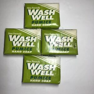 Wash Well Pumice Hand Soap 4 Bars by The Hewitt Soap Company 4.5oz Ea.