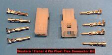 Western Fisher Snow Plow Truck Controller 4 Pin Plug Repair Kit Ultramount