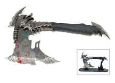 VAMPIRE DEMON SKULL Dragon Axe Fantasy Blooded Blade with Display Stand