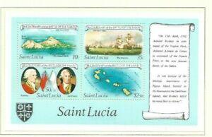 St Lucia 1982 Battle of the Saints min sheet MNH