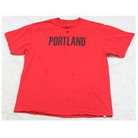 Majestic Portland Trailblazers Red & Black Tee T-Shirt XL Short Sleeve Cotton