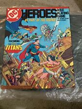 🔥 DC Heroes Role Playing Game 1989 Brand New Never Played Ultra Rare OOP