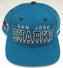 NHL San Jose Sharks Teal Structured Snapback Flat Bill Adjustable Hat By Reebok