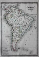 Original antique map SOUTH AMERICA, 'Amerique Meridionale', Malte-Brun, 1846