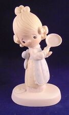 Precious Moments Eggs Over Easy Vintage girl with pan and egg on floor NIB 1979