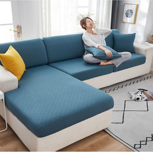 1~4 Seater Stretch Sofa Seat Cushion Cover Couch L Shape Seat Protect Slipcover