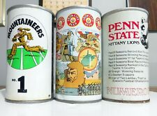3 straight steel Iron City Cans Mountaineers, Penn State Nittany Lions & 1976