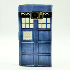 Doctor Who Tardis Leather Flip Wallet Card Holder Case For Samsung Galaxy S7