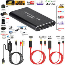 USB 3.0 4K to HDMI Video Capture Card Screen Record TV Audio/Video Live Capture