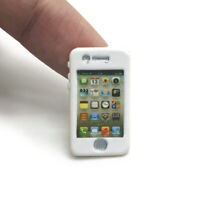 Miniature Alloy iPhone Look Model 1:6 Dollhouse Toy Mobile Phone Gold