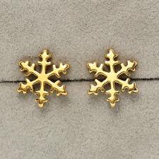 Cool Snowflake Stainless Steel Studs Earrings Punk Fashion Jewelry Men Women CA