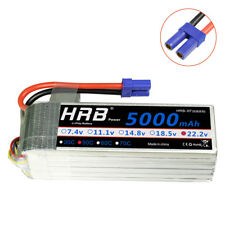 HRB 22.2V 5000mAh 6S LiPo Battery 50C-100C EC5 for TREX 550 600 700 LOGO500 US