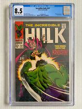 Incredible Hulk #107 CGC 8.5 1968 Marvel Comic Mandarin Nick Fury