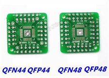 2Pcs Dip Smd Adapter To QFN44 QFP48 QFP44 Pqfp Lqfp Turn To Board Ic New rq