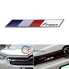 Aluminum Plate France Flag Emblem Badge For Car Front Grille Side Fender Trunk