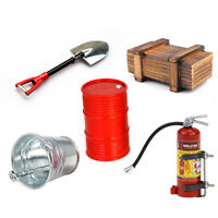 Simulation Wood Box Oil Drum Fire Extinguisher For Axial 1/10 SCX10 TRX4 RC Car