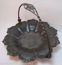 Antique 19c Victorian Forbes Silver Co Quadruple Silverplate Tray Copper Handle