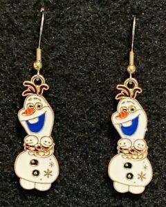 Olaf Earrings Disney Frozen Stainless Hooks New Snowman (C) Babies Snow Man