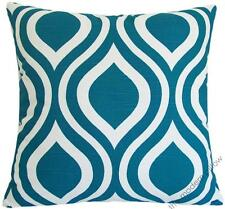 Deep aqua blue thistle decorative throw pillow cover/cushion cover 20x20""